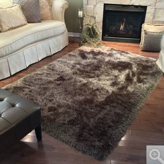 brown mocha shag costco segma area rug good condition big 7u0027