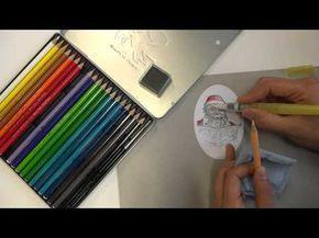 Kolorieren Mit Aquarellstiften Variante I Youtube