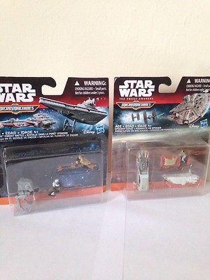 Star Wars MicroMachines ship set 2 pks New B