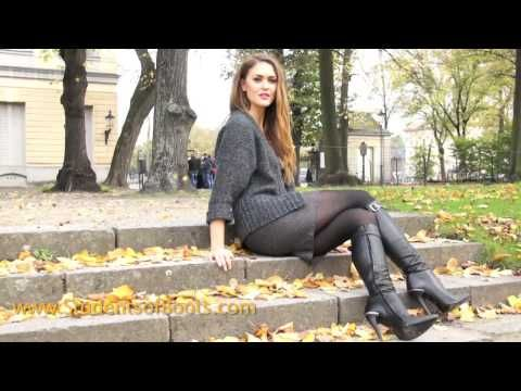 dd7175b4291fa Nele in high heel boots - YouTube | delicious boots | Boots, High ...