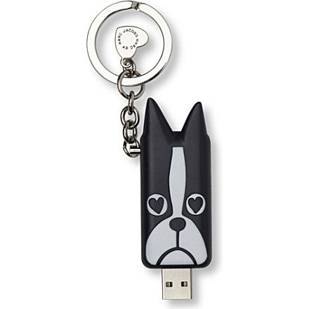 MARC BY MARC JACOBS Shorty USB key ring (Black