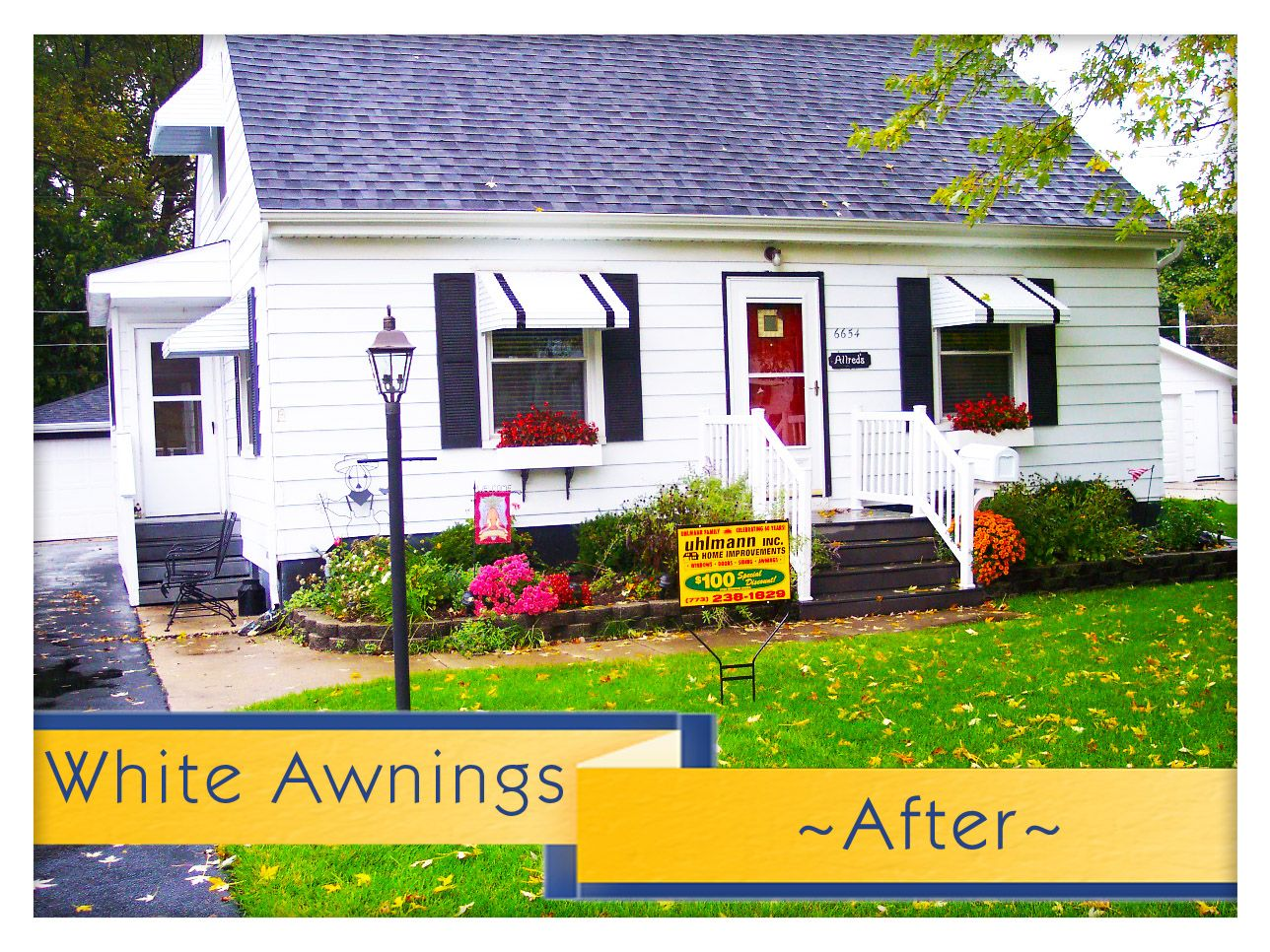 Vintage Houses With Window Awnings Replacement Awnings