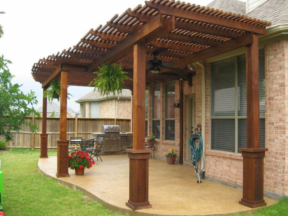 Exceptionnel Wood Patio Cover Designs   How To Design Idea Covered Back Patio? U2013 Garden  Design