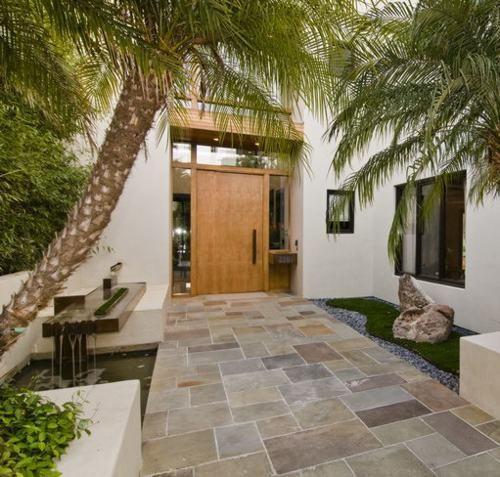 Modernos modelos de puertas de ingreso casas pinterest for Puerta entrada casa