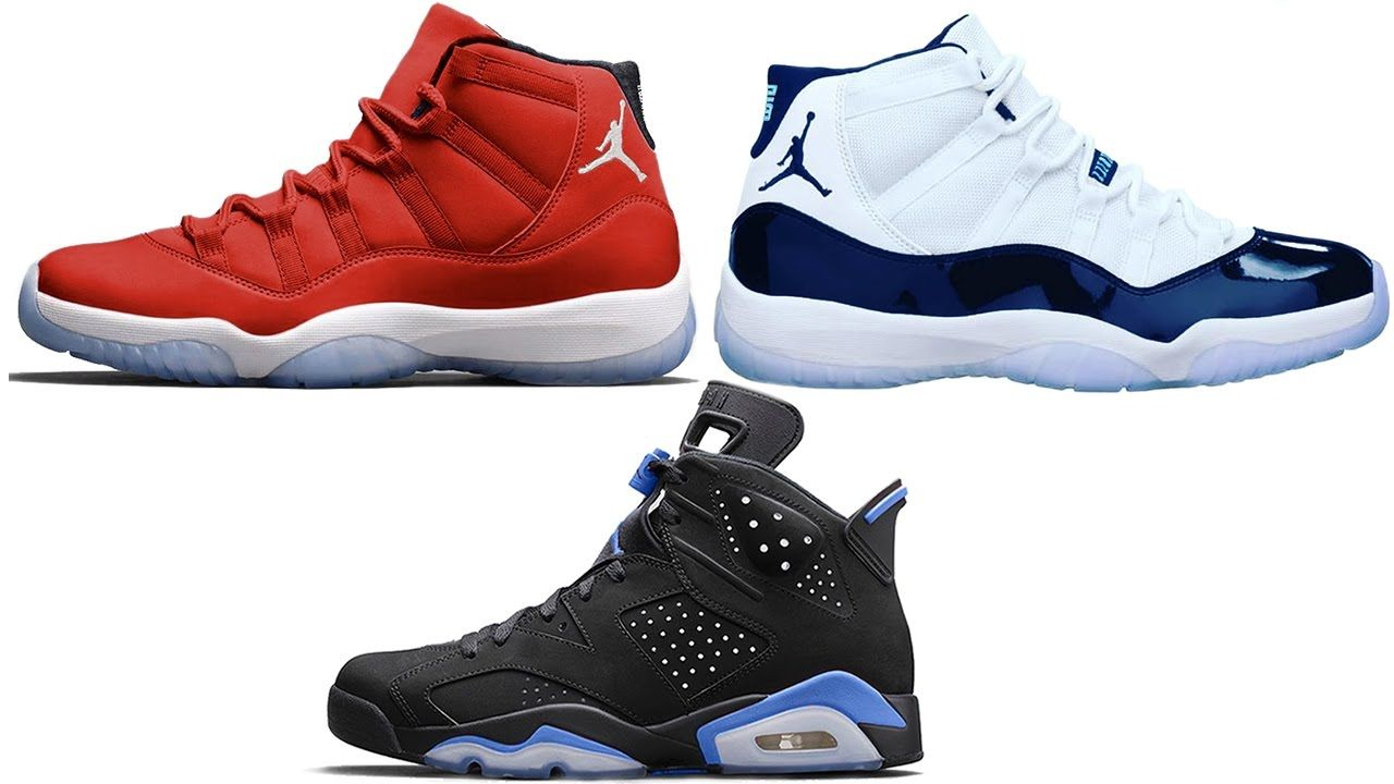 Air Jordan 11 GYM RED + MIDNIGHT NAVY Release Date, Jordan 6 Black  University Blue and More - Feels 22