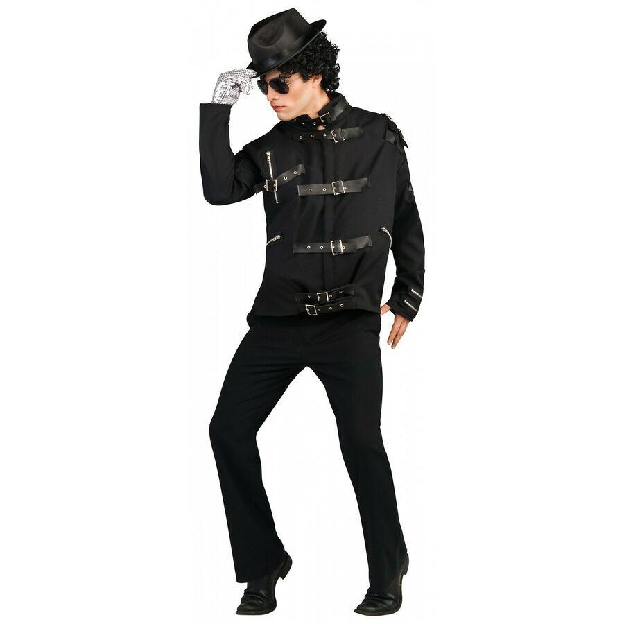 Michael Jackson Jacket Adult 80s Pop Star Costume Halloween Fancy Dress
