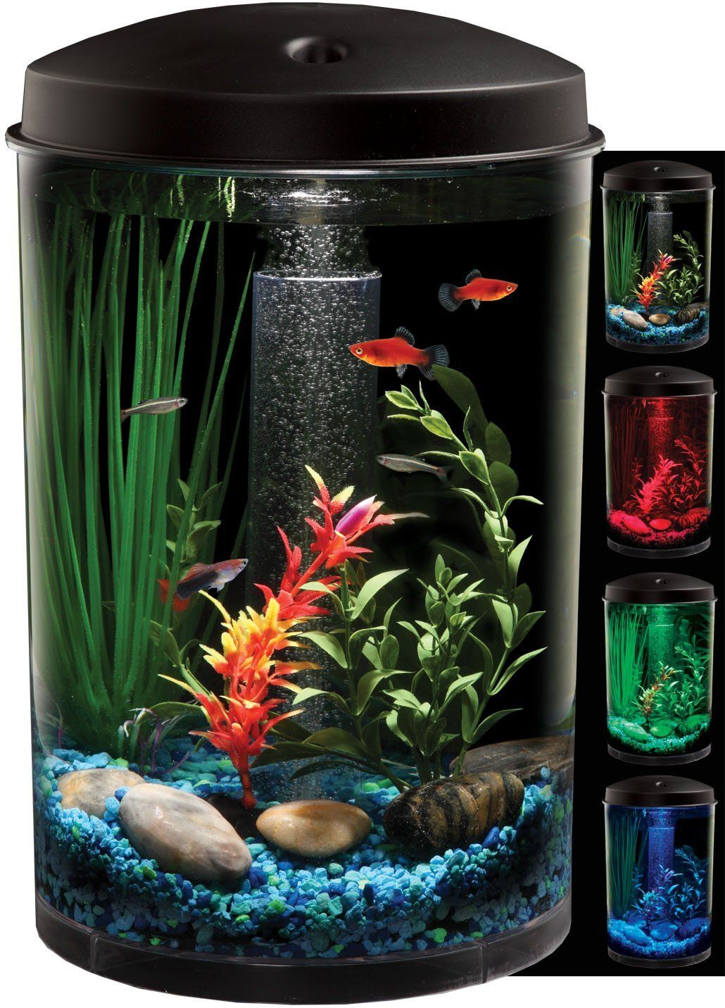 Aquarium fish tank starter kit - Circular Fish Tank Fishtank Aquarium Kit Bowl Fishbowl Aquatic Habitat Filter Go Shop Pet Supplies