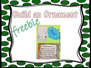 This holiday themed Freebie is perfect for getting your students in the Holiday spirit. This activity combines Mathematics, Social Studies, and Writing. Students will look at the order form to determine what kind of Christmas ornaments they would like to make.