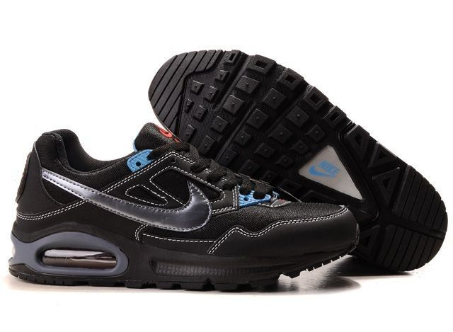 Discount Authentic Mens Nike Air Max Skybine Shoes Black