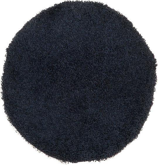 Navy Blue Solid Shag Area Rug
