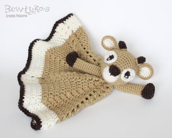 Crochet DEER PATTERN Soft plush comforter Easy and Quick crochet  clickable PDF tutorial Deer amigurumi lovey