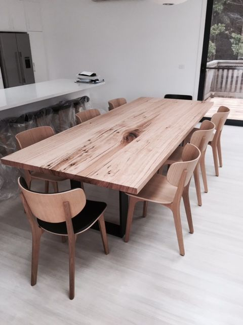 U Base Steel Base Dining Table Recycled Timber Www Christiancolefurniture Com Au Timber Table Wooden Fu Timber Table Dining Design Timber Dining Table