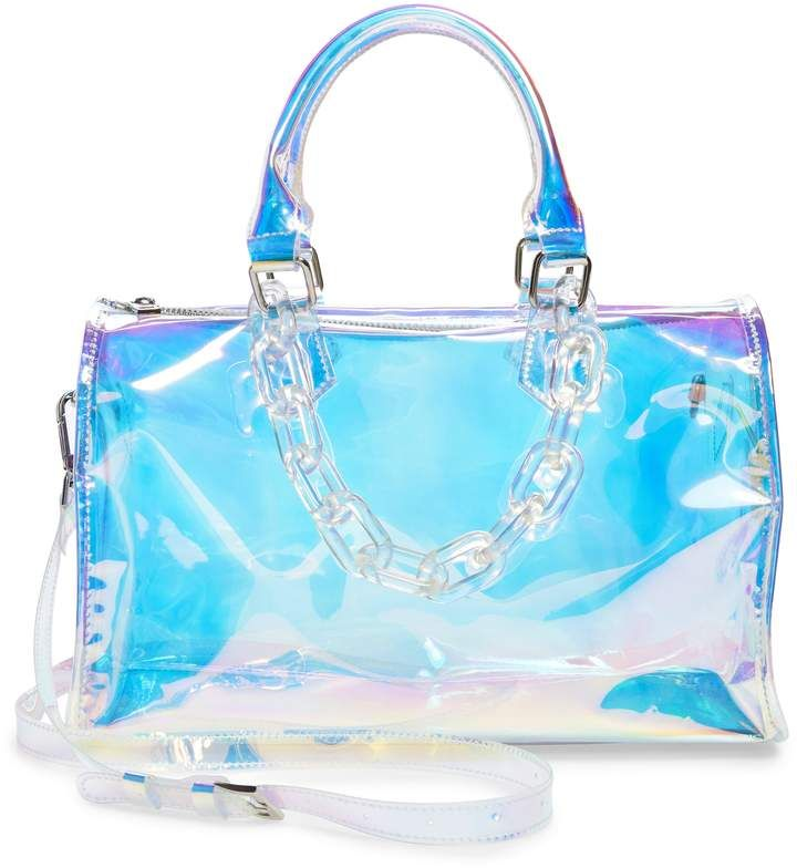 e56ef4e4e47 Like Dreams Translucent Iridescent Barrel Bag in 2019