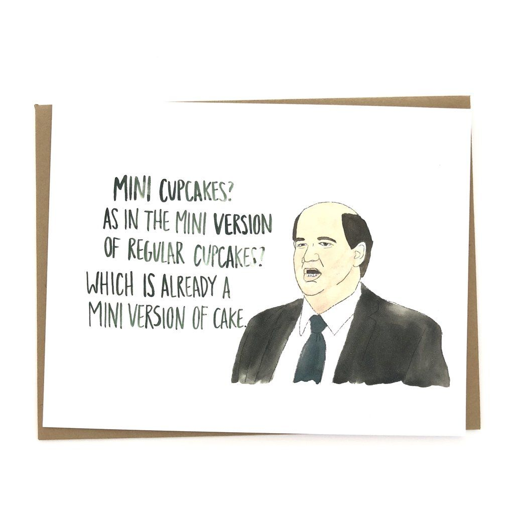 The Office Birthday Card // Kevin cupcakes Office
