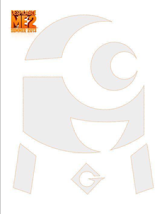 Despicable Me pumpkin carving template - download now | Printables ...