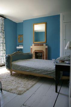 Farrow Ball Claydon Blue 87 Farrow And Ball Bedroom Interior Design Dining Room Blue Walls