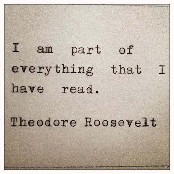 Theodore Roosevelt Quote Typed on Typewriter | Etsy