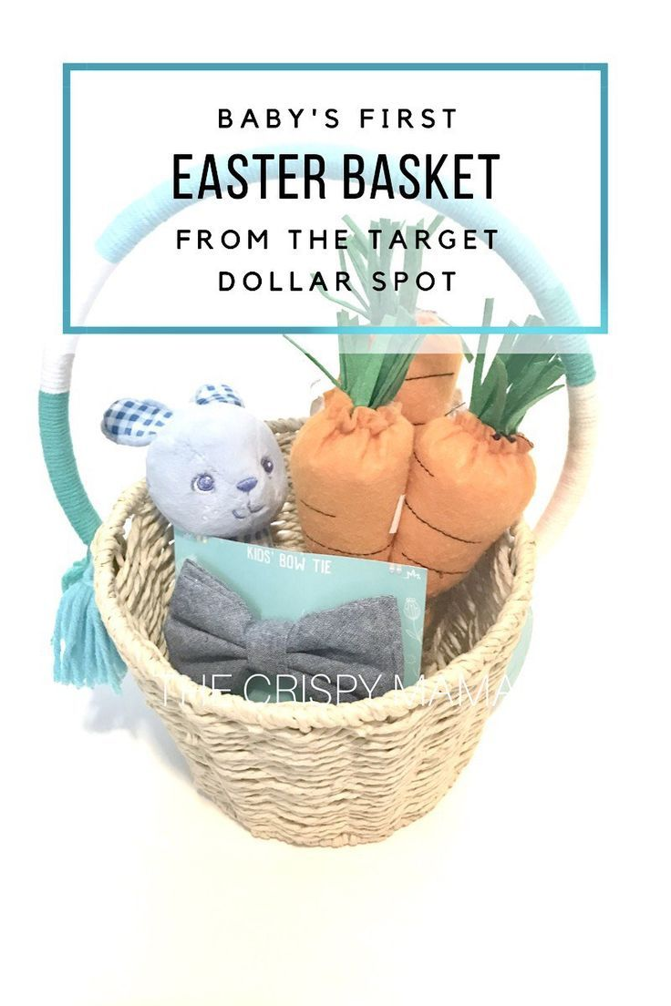 Babys first easter basket from the target dollar spot baby boy babys first easter basket from the target dollar spot baby boy easter basket ideas target dollar spot finds via the crispy mama negle Gallery