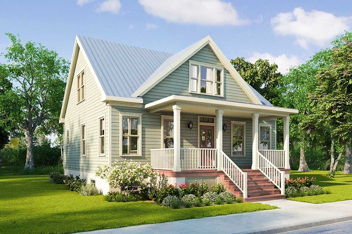 Plan 31537gf Warm And Welcoming 4 Bedroom Craftsman Cottage House Plan With Images Craftsman House Plans Narrow Lot House Plans Craftsman House