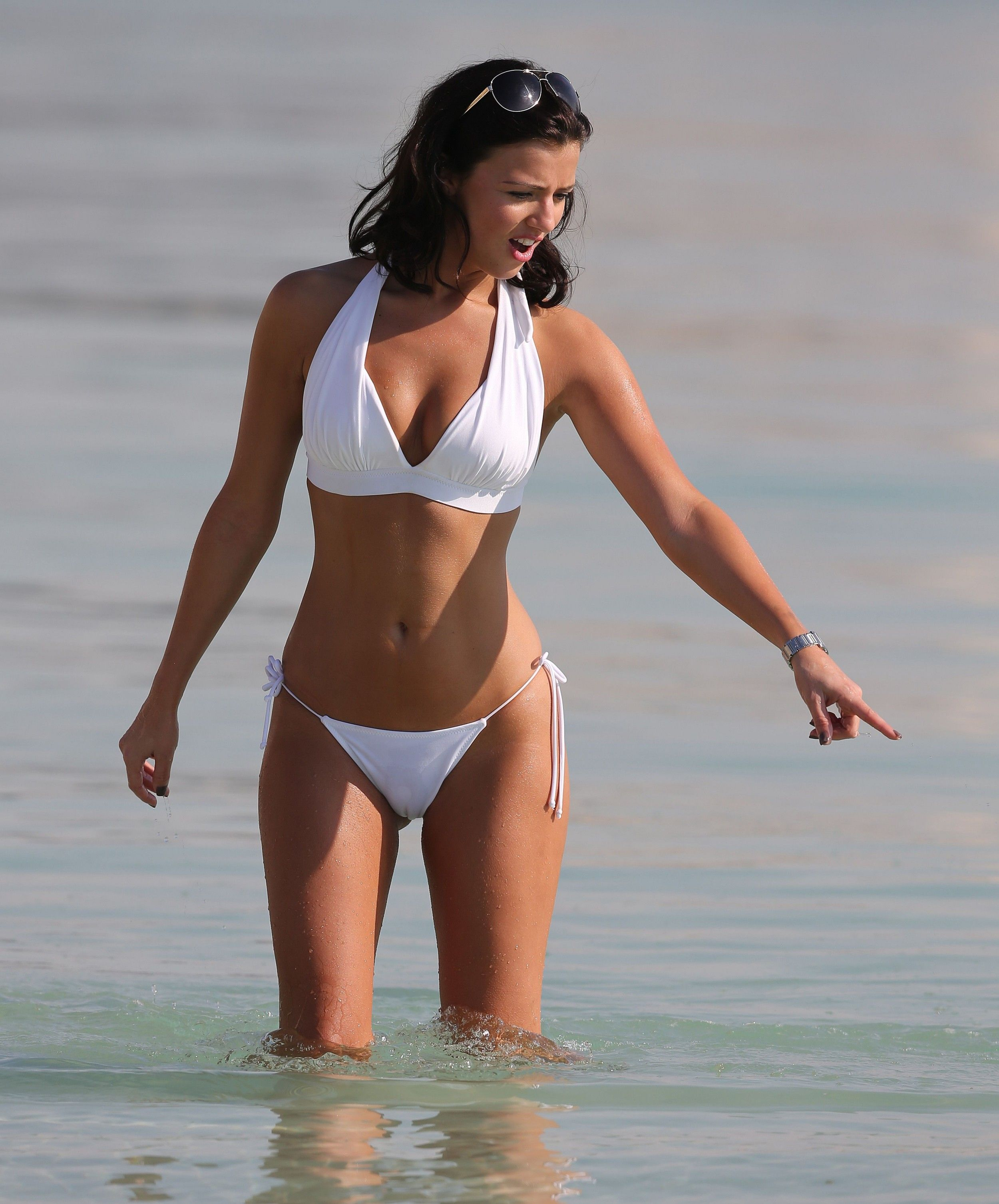 Lucy-Mecklenburgh---wearing-a-white-bikini-in-Dubai--30