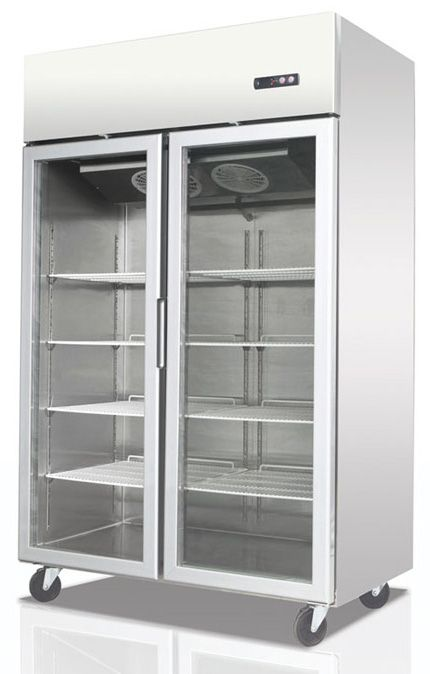Migali 2 Door Pharmacy Refrigerator Glass Door Glass Door Refrigerator Double Glass Doors