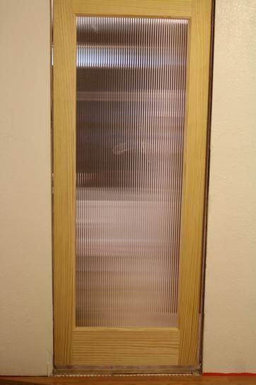 Feather River Doors 24 In X 80 Reed Woodgrain 1 Lite Unfinished