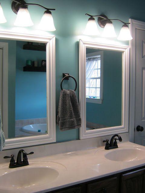 Paint Speckled Pawprints Framed Bathroom Mirrors Bathroom Mirror Frame Home Bathroom Inspiration
