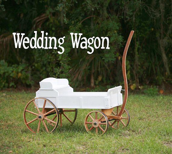 Antique Wooden White Market Wagon Wedding By Customdesigncenter 295 00