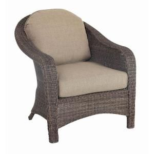 Hampton Bay Walnut Creek Patio Club Chair With Wheat Cushion 2 Pack Frs62265 At The Home Depot