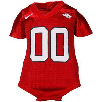 Nike Arkansas Razorbacks Infant Cardinal Football Jersey Creeper Arkansas Apparel Clothes Design Razorback Shirt