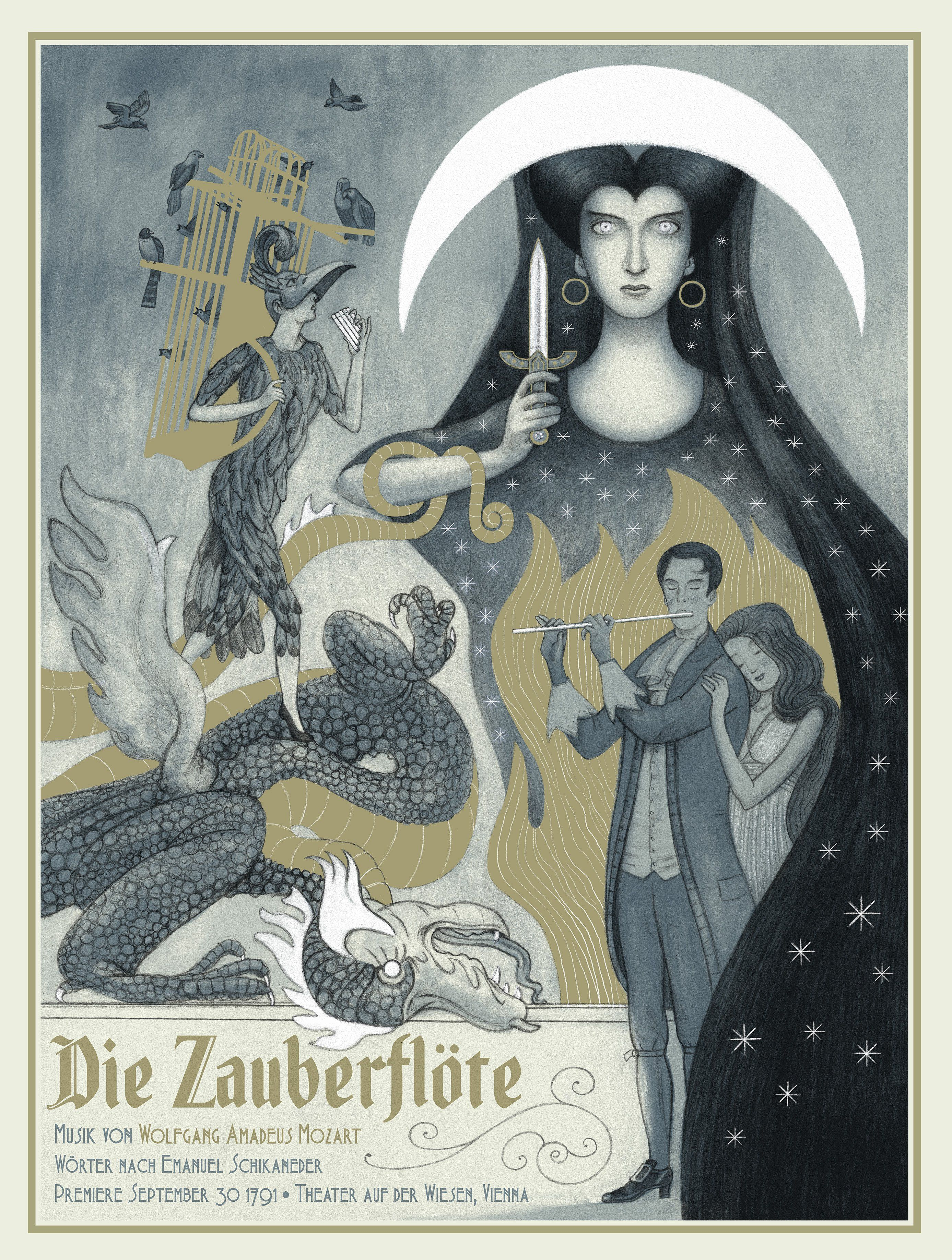 Die Zauberflote The Magic Flute By Jonathan Burton The Magic Flute Flute Die Zauberflote