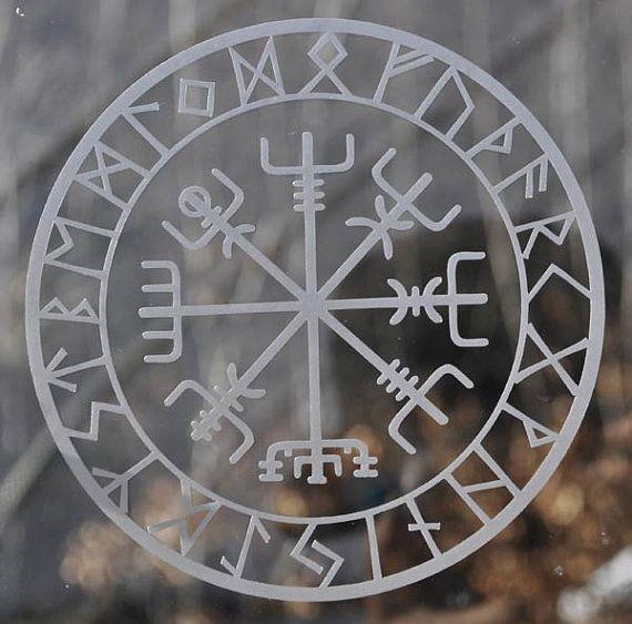 viking protection runes vegvisir compass talisman etched. Black Bedroom Furniture Sets. Home Design Ideas