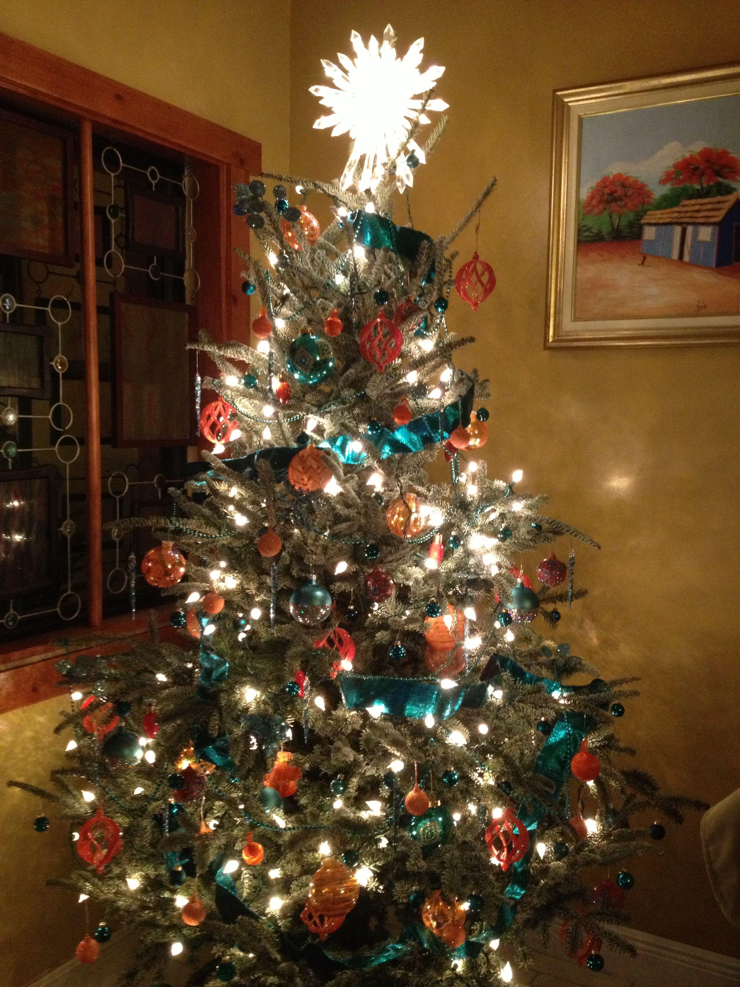 @Meri Lang Christmas Tree 2012. Miami Dolphins Inspired