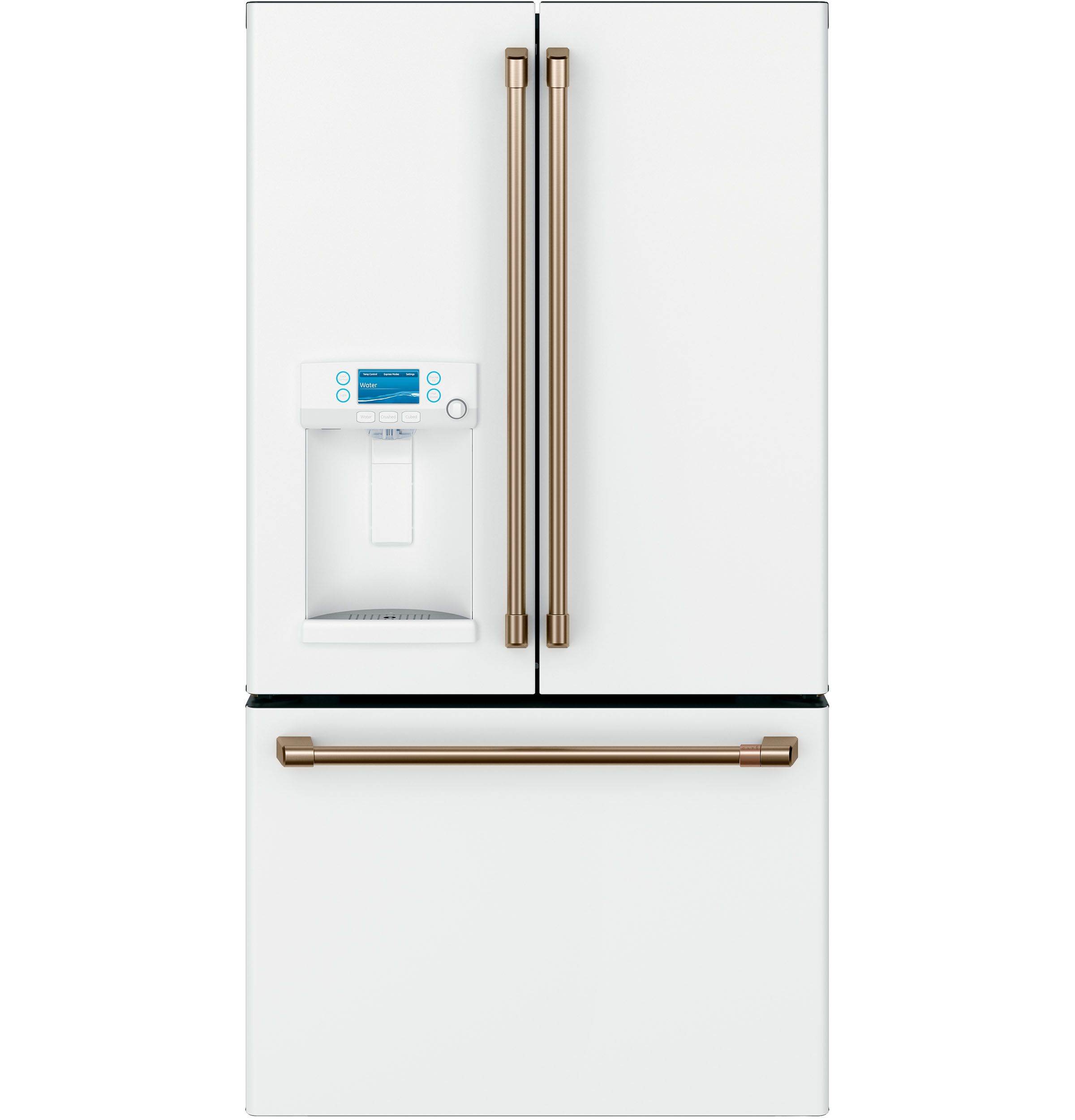 Kitchenaid 20 Cu Ft French Door Refrigerator In White Counter