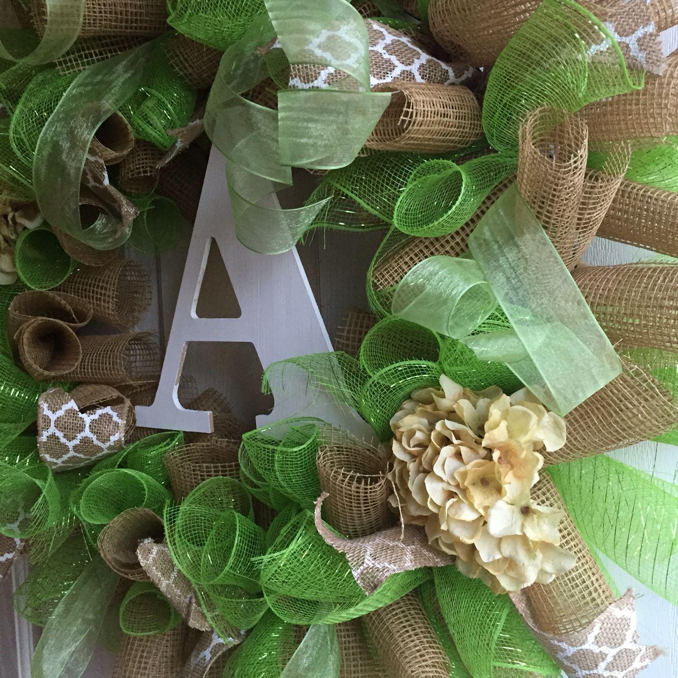 Lovely everyday mesh wreath