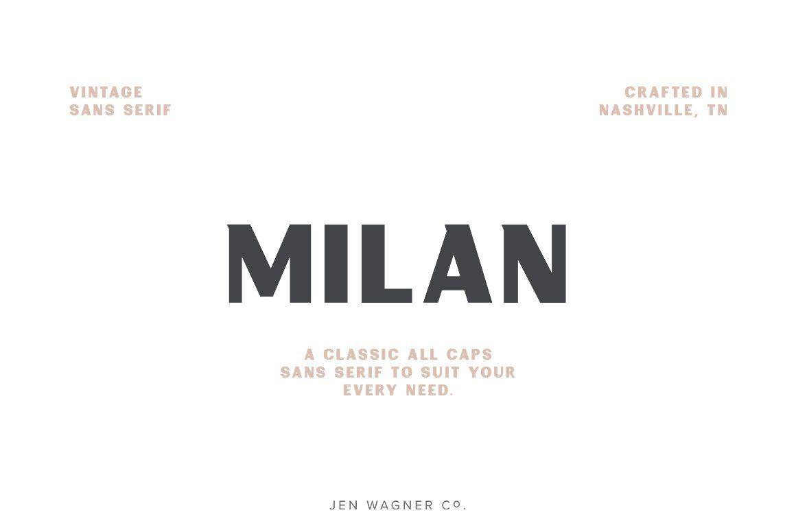 Milan A Vintage Sans Serif Sans Serif Vintage Fonts Best Sans Serif Fonts