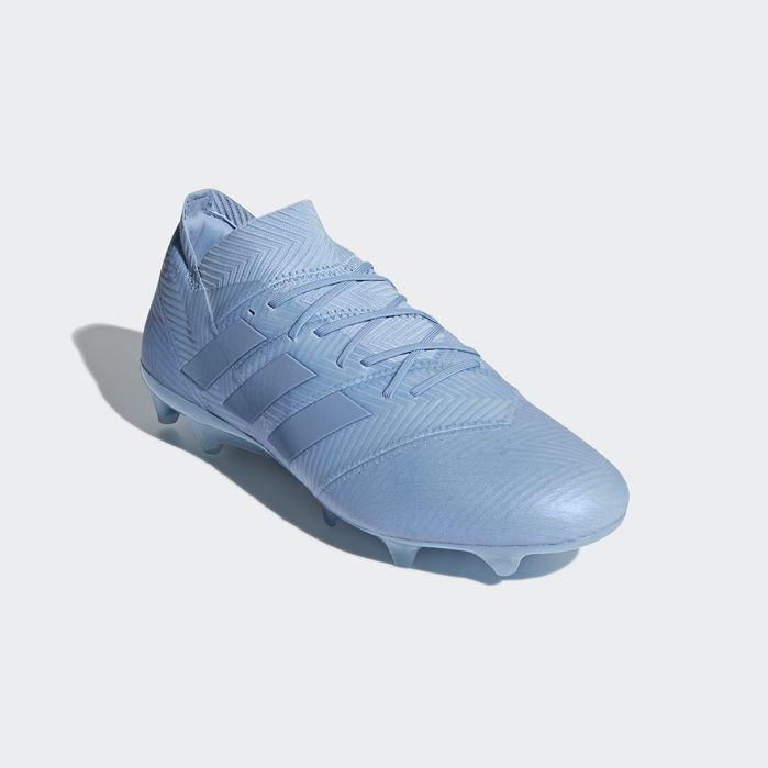 f39767310 Nemeziz Messi 18.1 Firm Ground Cleats Ash Blue 9 Mens