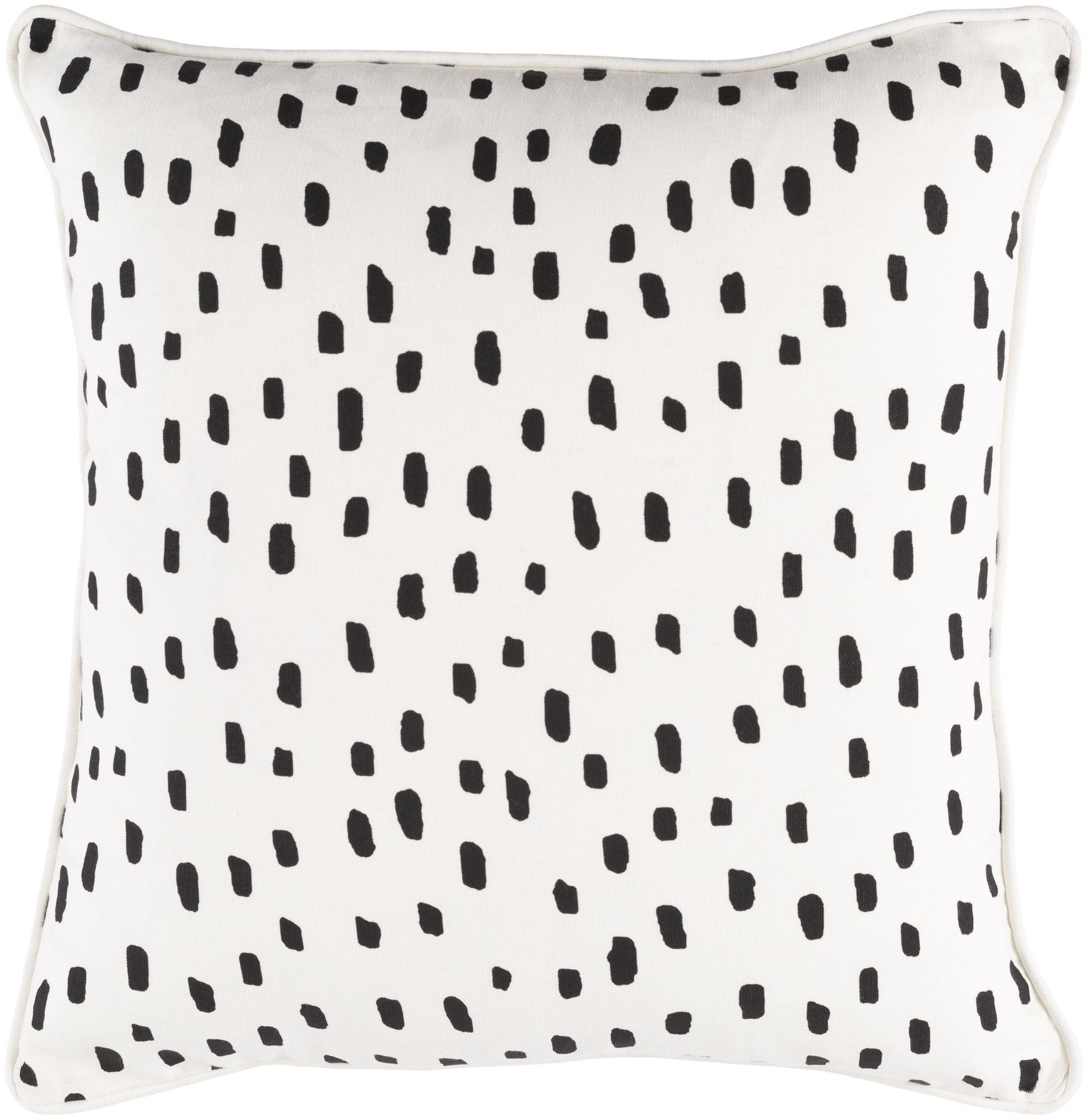 Glyph Dalmatian Dot Cotton Throw Pillow Cover