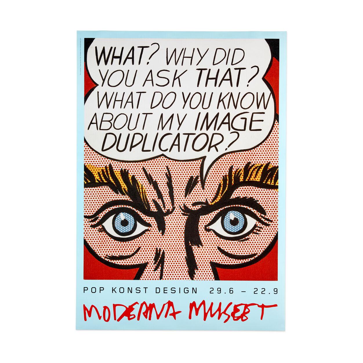 Roy Lichtenstein-Reflections on the Scream-2013 Poster