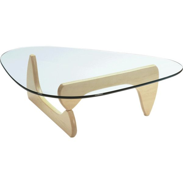 Noguchi Coffee Table Maple Base found on Polyvore