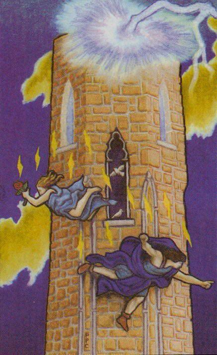 Connolly Tarot The Tower Tarot Card The Tower Tarot Tarot