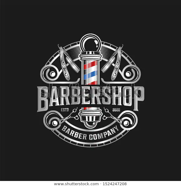 Barbershop Logo Vintage Classic Style Salon Fashion Haircut Pomade Badge Icon Simple Minimalist Modern Bar In 2020 Hair Salon Names Small Cafe Design Barber Haircuts