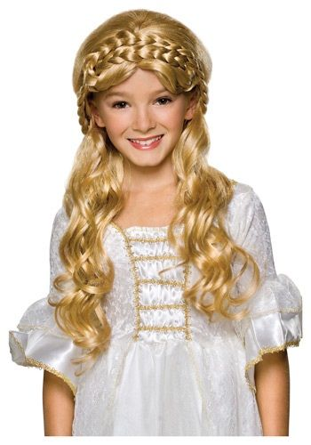 Child Blonde Enchanted Princess Wig Wig, Blondes and Child - princess halloween costume ideas