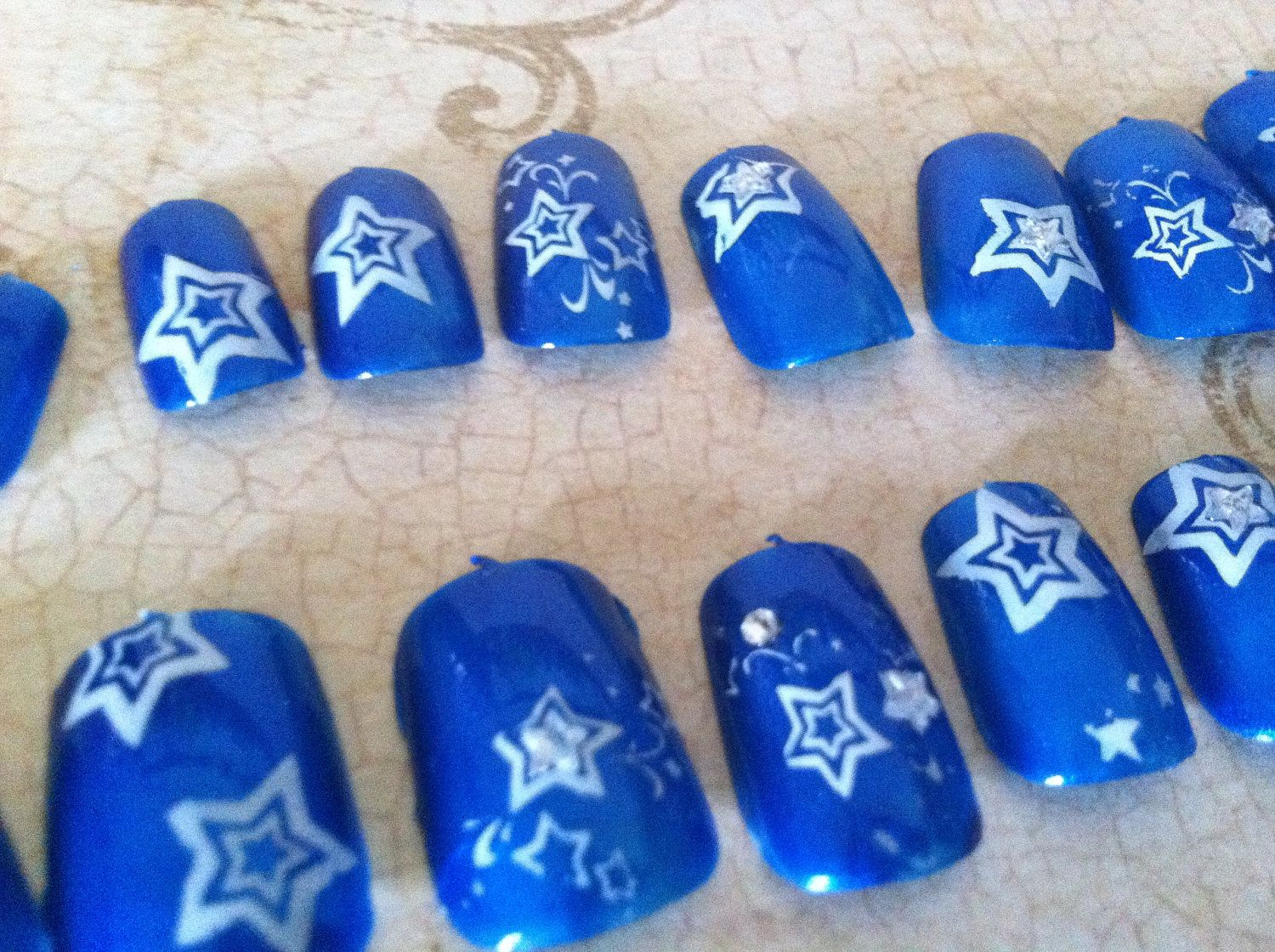 Dallas Cowboys Nail art Navy blue with by Mommyliciouscrafts, $17.00 ...