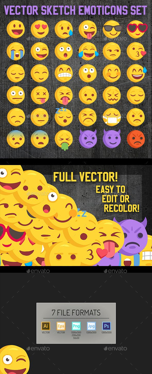 Big 36 Rough Sketch Vector Emoji Emoji, Best icons, Vector