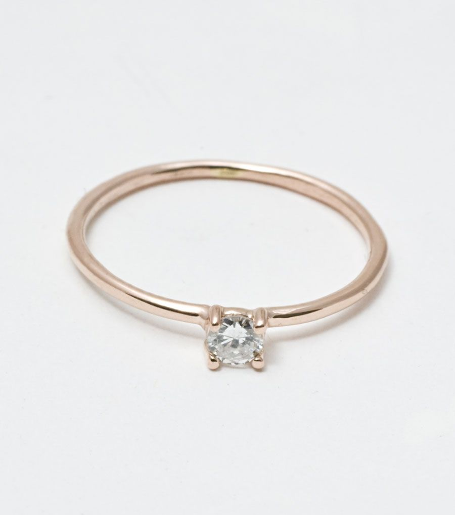 Catbird By Category Jewelry Wedding Engagement Clic Little Ged Solitaire Ring Rose Gold