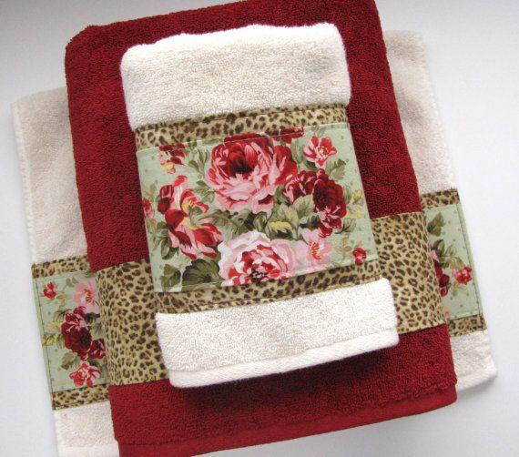 Bath Towels Towel Sets Vintage Rose Leopard Towels By Augustave