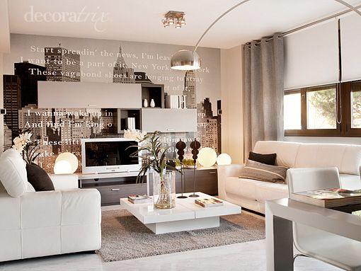 salon-comedor-piso-piloto-arganda-1   Small apartment ideas   Living ...