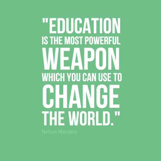 Education | A well, Change the worlds and Nelson mandela