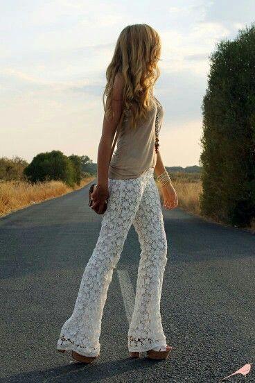 Pantalon De Encaje Loveit Pretty Outfits Fashion Walk Fashion